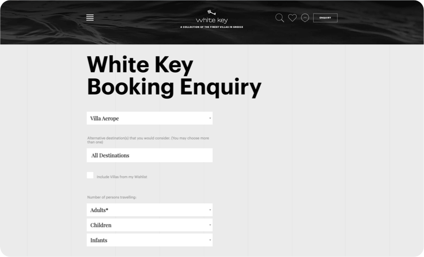 Booking Experience - Desktop